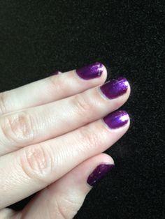 Purple with purple sparkle fade!