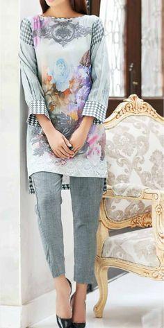 Light Gray Embroidered Viscose Dress (2pc) Contact: (702) 751-3523  Email: info@pakrobe.com  Skype: PakRobe