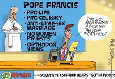 Surprise! The Pope is Catholic ;-)