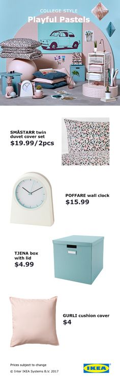 Bring some playfulness into your dorm room with the help of these IKEA products with fun, playful patterns.