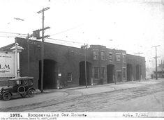Roncesvalles car house, April 1923 (pre-demolition)