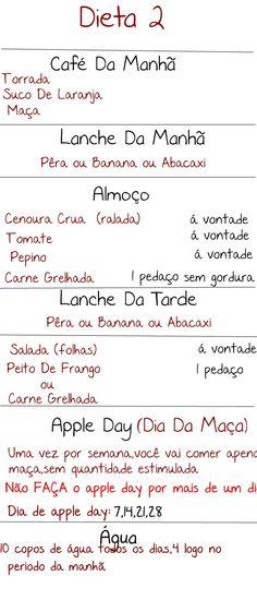Cardápio - Dieta: