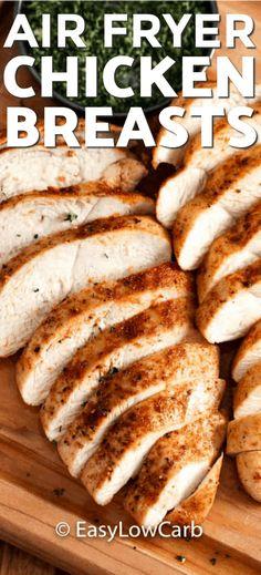 Air Fryer Recipes Chicken Breast, Air Fryer Oven Recipes, Fried Chicken Breast, Air Frier Recipes, Air Fryer Dinner Recipes, Chicken Breasts, Chicken Recipes, Chicken Bites, Chicken Sauce