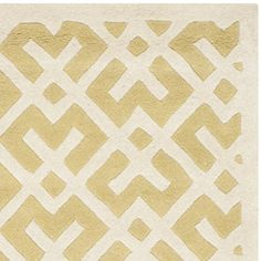 Safavieh Chatham Collection CHT719L Handmade Light Gold and Ivory Wool Area Rug, 6 feet by 9 feet (6′ x 9′) #handmade The Chatham Collection is the perfect blend of modern class and timeless elegance. These rugs bring traditional sophistication to your home. These rugs feature 100% Premium Wool, hand tufted into elegant Moroccan designs, perfect for your décor. These rugs feature a contemporary design and dense, thick pile highlight inspired by Moroccan patterns with today's updated ..
