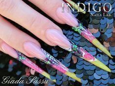 Nails by Giada Sassu #giadasassu #stiletto #wonderful #delicious #colorful #loveindigonails #nailart #torino #nailartist #indigonailspiemonte #indigonails