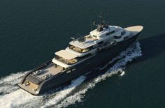Motor yacht X-Ballet concept from above