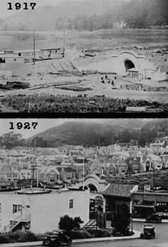 West Portal Images - Western Neighborhoods Project - San Francisco History - West Portal Development 1917 and 1927 Places In California, California History, Vintage California, California California, Living In San Francisco, San Francisco California, Old Pictures, Old Photos, San Francisco Neighborhoods
