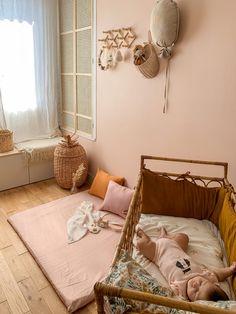 Matelas de sol Motricité libre - Merci Suzy - Coin lecture - décoration chambre bébé - rose et ocre