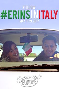 TOMORROW we're embarking on aroad trip through Northern Italy! ➡ Verona, Bologna, Parma, Prato, Florence, Siena, Trento.   We've decided to document this entire experience and take you with us. WOOP!    So how do you join in the fun?!  Follow the hashtag #ErinsinItaly on ALL social things (survivingeurope). Add us on Snapchat: survivingeurope  ...and get ready for daily updates, beautiful views of Italy & our favorite road trip moments. Excited?! Because we TOTALLY are!