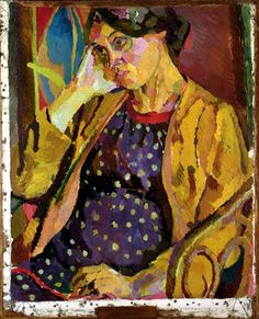 Grant, Duncan - Vanessa Bell in verwachting van Angelica, 1918