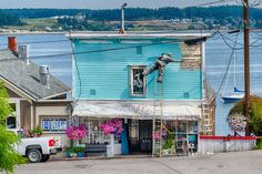 Coupeville, Washington, the heart of Ebey's Landing National Historical Reserve on Whidbey Island, including the Coupeville Wharf. Seattle Vacation, Vacation Spots, Coupeville Washington, West Coast Living, Northwest Usa, Oregon Washington, Whidbey Island, Travel Tours, Travel Ideas