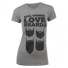 Duck Dynasty Real Women Love Beards Women's T-Shirt - Grey