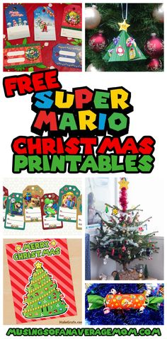 Free Super Mario Christmas printables including ornaments, gift tags and more! Printable Activities For Kids, Holiday Activities, Holiday Crafts, Star Ornament, Ornaments, Groundhog Day, Child Day, Grandparents Day, Christmas Printables