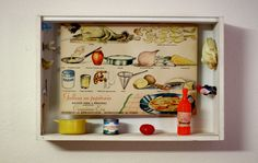 Cocina creativa. Caja de madera, técnica mixta. 31X21X8cm