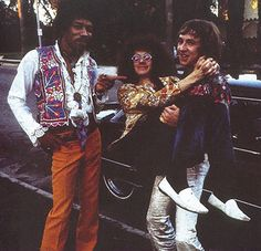 Jimi Hendrix, Noel Redding and Mitch Mitchell.