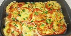 Fish with cheese and tomatoes Ingredients: Fish silver carp kg) - 1 pc. Cheese - 300 g Lemon - 1 pc. Meat Recipes, Cooking Recipes, Cooking Pork Roast, Cooking Spaghetti Squash, How To Cook Barley, Cooking Measurements, Cooking White Rice, Fish And Seafood, Good Food