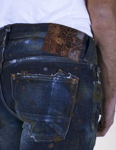 indigoblue - back pocket detail Blue Denim, Blue Jeans, Denim Pants, Men's Denim, Torn Jeans, Japanese Denim, Spring Fashion Trends, Western Outfits, Vintage Denim