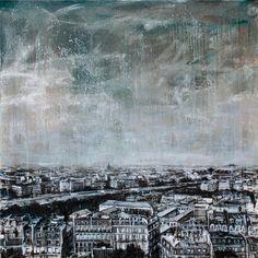 Vincenzo Todaro, (un)memory #004 - City, olio e acrilico su tela, 100X100, 2009