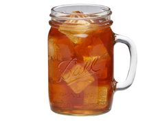 Ball® 24oz drinking jars are made with the same high quality glass as Ball® canning jars with the addition of a handle to make holding the jar easier.