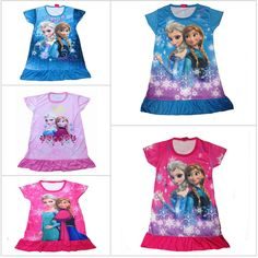 HOT 2015 Cartoon Princess Dress Elsa Clothes,Kids Nightgown,Girl's Sleepwear,Anna's Princess,Fashion NightDresses Free Shipping #>=#>=#>=#>=#> Click on the pin to check out discount price, color, size, shipping, etc. Save and like it!