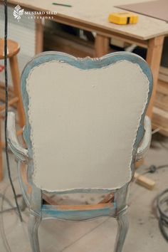 Upholstering over caning. For when I'm over the caning on my French dining set.
