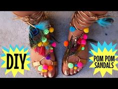 (4) DIY POM POM SHOES | MISSCHARMSIE - YouTube