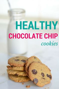 These Healthy Chocolate Chip cookies are high in protein and good fat, and low-carb. Made with almond flour, and just 7 other healthy ingredients, they are a wonderful treat for any occasion! Better yet? They taste like the real thing and are a cinch to m