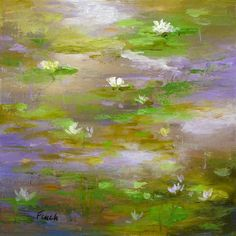 Waterlily Pond III by Sheila Finch - oil painting   UGallery