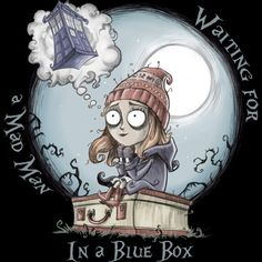 Buy the Doctor Who Amy Pond t-shirt featuring The Girl Who Waited. Wear the shirt as you wait for the Doctor to rescue you like he did Amelia Pond. Tim Burton Stil, Estilo Tim Burton, Doctor Who Art, 11th Doctor, Dr Who, Sherlock, Day Of The Shirt, Amy Pond, Don't Blink