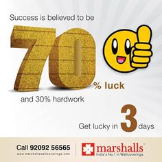 Get lucky in the next 3 days! Stay tuned to know more! #MarshallsWallcoverings #Wallpapers #Walldecor #HomeDecor