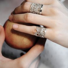 Silver Lace Crown Ring by MokoshJewellery on Etsy