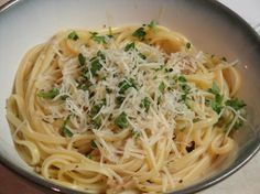 Tonight's dinner because I have all the ingredients on hand.. linguine with white clam sauce.