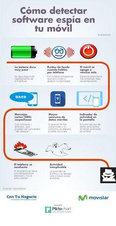 Diversos indicios de la posible presencia de Spyware en tu móvil inteligente, perfectamente explicados en una interesante infografía.