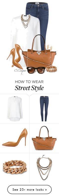Chic Street Style. The Sweetest Thing Inspired by ccroquer on Polyvore featuring Paige Denim, Joseph, Christian Louboutin, Valentino, Thierry Lasry, Giuseppe Zanotti and STELLA McCARTNEY
