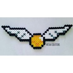 Golden Snitch - Harry Potter hama beads by misha.creations