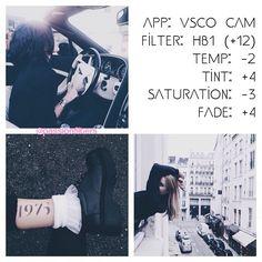 Preto e branco Instagram Feed VSCO filtro HB1 +12
