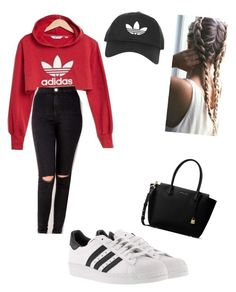 """Fancy sports"" by desireelovesfashion on Polyvore featuring NIKE, adidas, MICHAEL Michael Kors and Topshop"