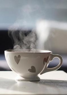 Think it over by a cup of tea. #heart #love #happy
