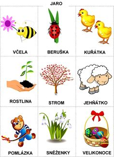 Pro Šíšu: Rocni obdobi - obrazky Easter Activities For Kids, Abc Activities, Spring Activities, Weather For Kids, Language Dictionary, Diy And Crafts, Crafts For Kids, Learning English For Kids, Stipa
