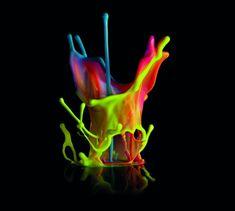 Skulptur Musik Farbe-bunte visuelle Effekte