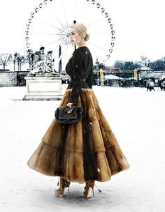 Ulyana Sergeenko wearing her own design at the Paris haute-couture shows (Claudia Fessler for Mode Majeure) #streetstyle