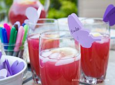 Butterfly Drink Markers – Simple Summer Party