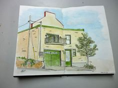 watercolor and ink architecture - Google Search