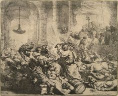 Christ Driving the Moneychangers from the Temple Rembrandt1635 Ait olduğu koleksiyon: Reading Public Museum