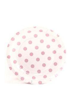 Paper Cake Plates by Sambellina - Polka dot pink on white (12 per pack) $5.95