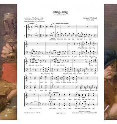 Jacques OFFENBACH : Drig, Drig  ( les contes d'Hoffmann ) Partition de la musique pour chœur à 4 voix égales d'hommes (TTBB) - musique publiée aux éditions Musiques en Flandres - référence : MeF 907