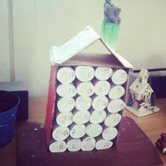 Calendrier de l'avent en rouleaux de carton: DIY