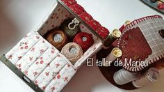 El taller de Maricú: Needle house's box . . . Sew On Patches, Coin Purse, Workshop, Purses, Sewing, Bags, Baskets, Scrappy Quilts, Sewing Ideas