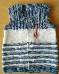 Emir Baby Sweater Patterns, Baby Knitting Patterns, Knitting Designs, Free Knitting, Embroidery On Kurtis, Kurti Embroidery Design, Sleeveless Cardigan, Baby Cardigan, Knitwear Fashion
