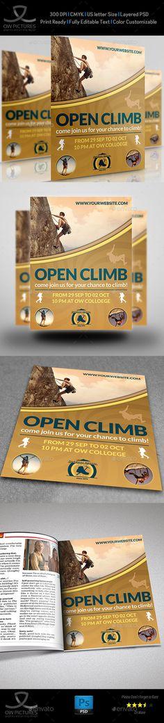 Climbing Sport Flyer Template